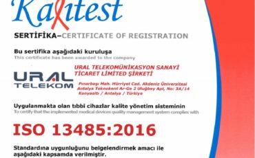Kalite Sistemimiz ISO 13485 Belgesi ile Avrupa Standartlarına Uygunluğunu Kanıtladı